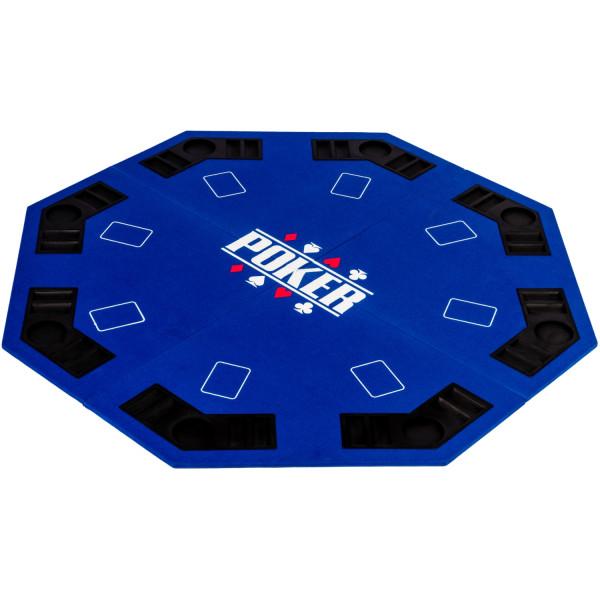 Pokerauflage 8-eckig 122cm, Farbe blau
