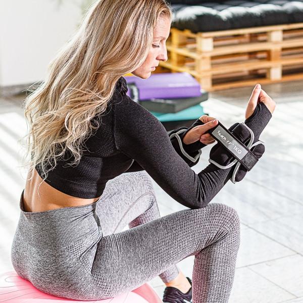 MOVIT® Neopren Gewichtsmanschetten 2x 2 kg schwarz