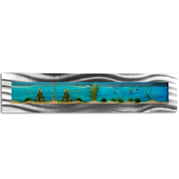 Wandaquarium, Aquarium Komplett-Set, 2000x445x110 mm
