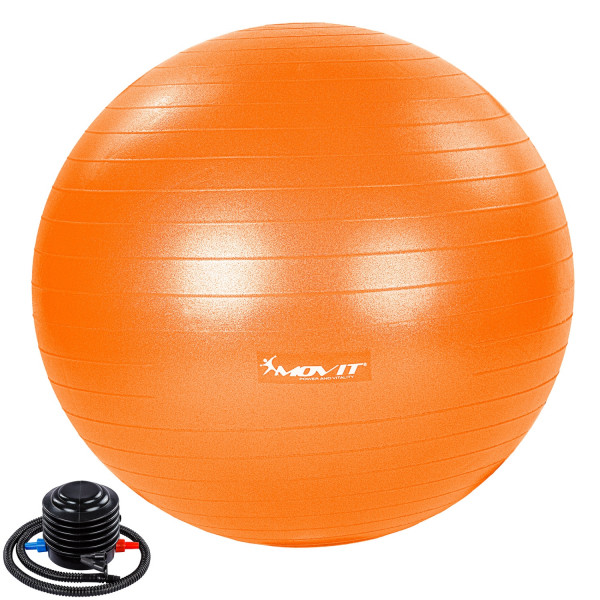 MOVIT® Gymnastikball mit Fußpumpe, 75 cm, orange