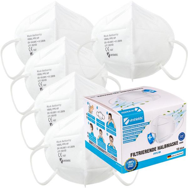 MOVIT® FFP2 Gesichtsmasken 10 Stück, Farbe Weiß