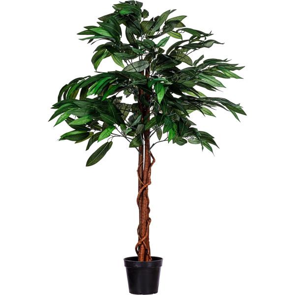 PLANTASIA® Mangobaum 120cm, Kunstbaum, Kunstpflanze