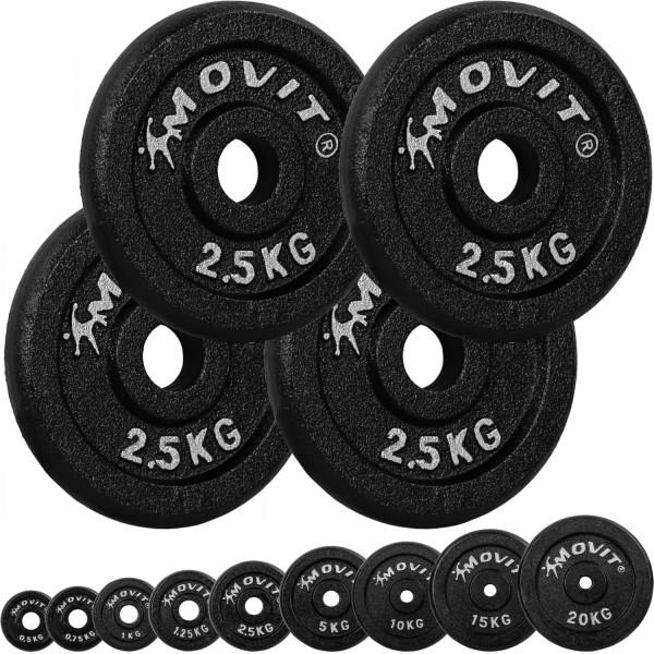 MOVIT® 4x Hantelscheiben 2,5 kg Gusseisen