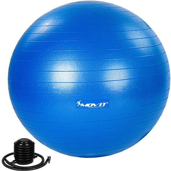 MOVIT® Gymnastikball mit Fußpumpe, 55 cm, blau
