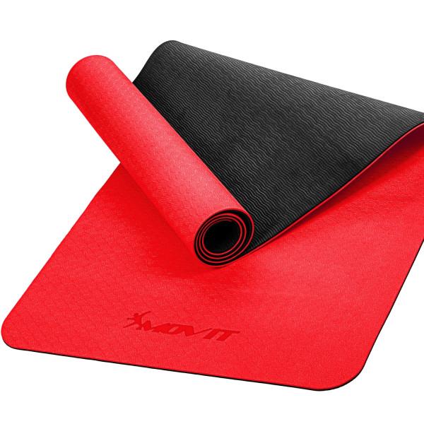 MOVIT® TPE Gymnastikmatte, 190x100x0,6cm, rot