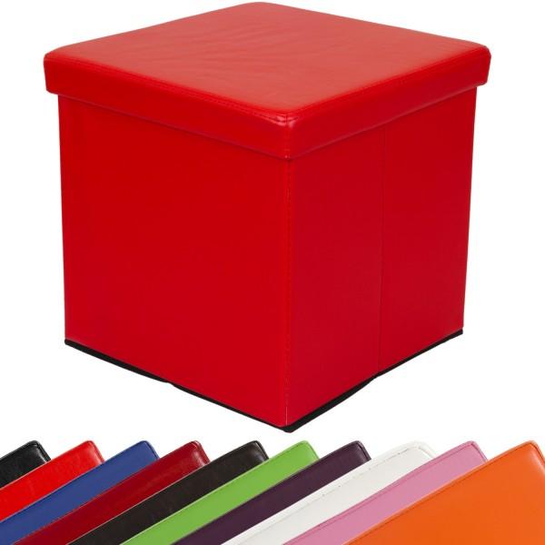 STILISTA® Faltbox, Sitzhocker, Sitzwürfel, Rot