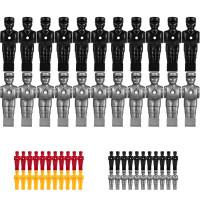 TUNIRO® Kickerfiguren für 15,9mm Stangen, schwarz und silber