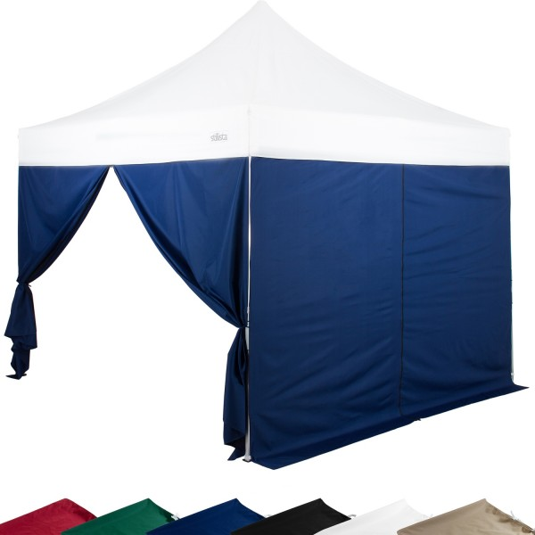 STILISTA® Seitenteile RV Pavillon 2er Set blau, 3x3 m