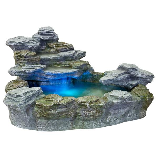 STILISTA® Beleuchteter Gartenbrunnen, Springbrunnen