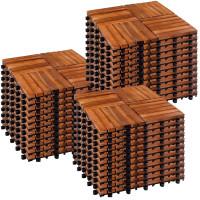 STILISTA 33er Set Akazie Holzfliesen Mosaik 4x4