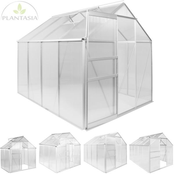 PLANTASIA® ALU Gewächshaus, 7,6m³, 4mm Stärke