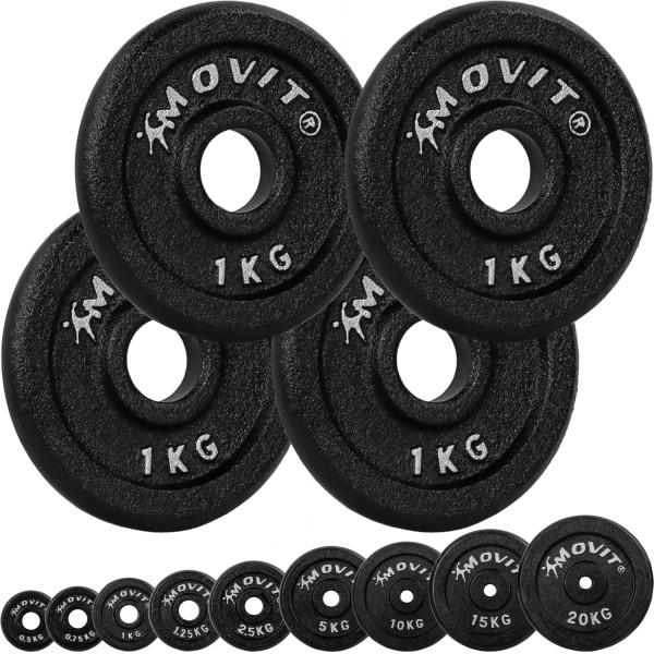 MOVIT® 4x Hantelscheiben 1,0 kg Gusseisen