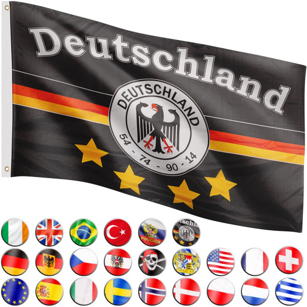 FLAGMASTER® Fahne Deutschland Fussball Flagge