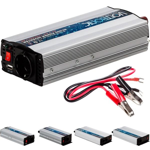 VOLTRONIC® Spannungswandler Inverter 24V auf 230V 600W USB