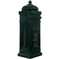 Säulenbriefkasten, Postkasten antik grün