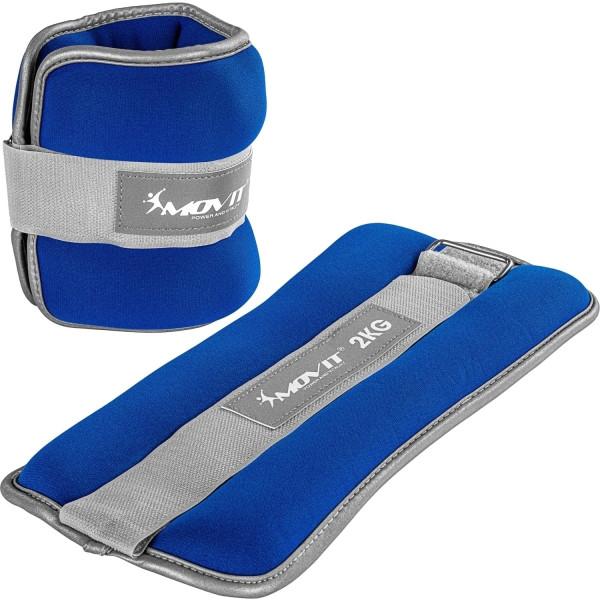 MOVIT® Neopren Gewichtsmanschetten 2x2 kg blau reflex