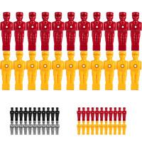 TUNIRO® Kickerfiguren für 15,9mm Stangen, rot und gelb