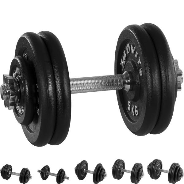 MOVIT® 25 kg Profi Kurzhantel Set, Gusseisen, Hantel