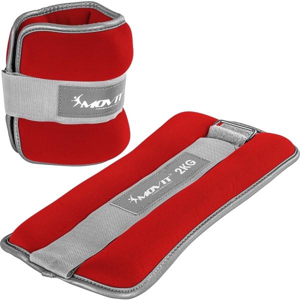MOVIT® Neopren Gewichtsmanschetten 2x2 kg rot reflex