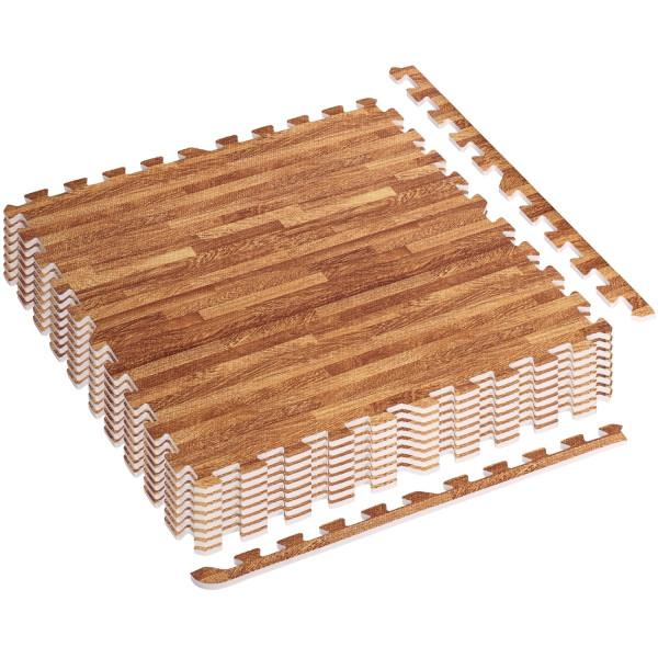 MOVIT® Schutzmatten Set 3m² Printdekor Holz hell