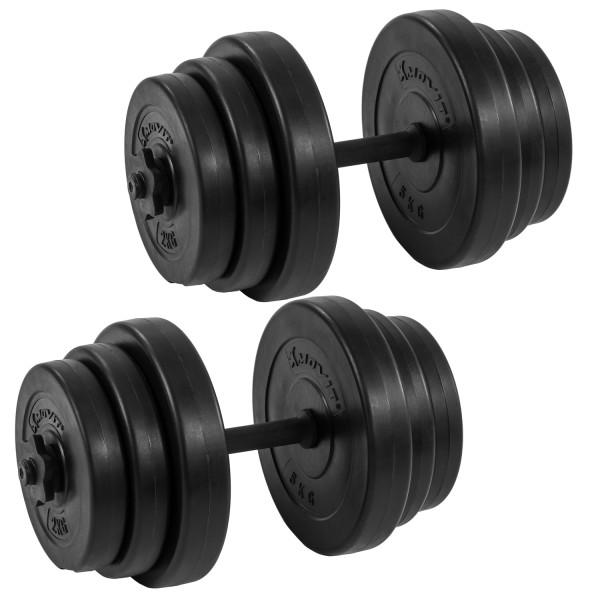 MOVIT® 2x 20 kg Hantelset, 40kg Hanteln, Kurzhanteln