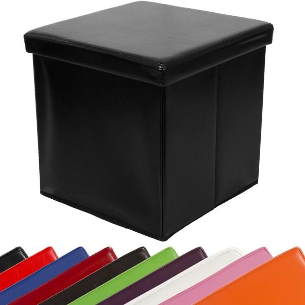 STILISTA® Faltbox, Sitzhocker, Sitzwürfel, Schwarz