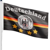 FLAGMASTER® Aluminium Fahnenmast Deutschland Fussball 6,50m