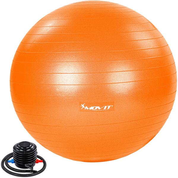 MOVIT® Gymnastikball mit Fußpumpe, 85 cm, orange
