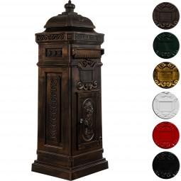 Säulenbriefkasten, Postkasten antik bronze