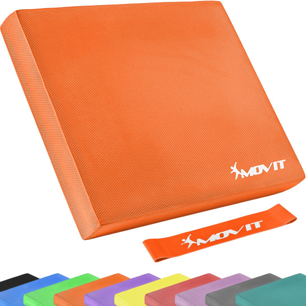 MOVIT® Balance Pad Sitzkissen orange mit Gymnastikband