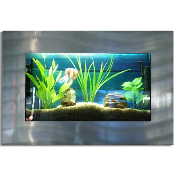 Wandaquarium, Aquarium Komplett-Set, 870x580x110 mm