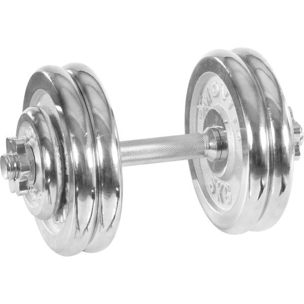 MOVIT® 25 kg Chrom Profi Kurzhantel Set, Gusseisen, Hantel