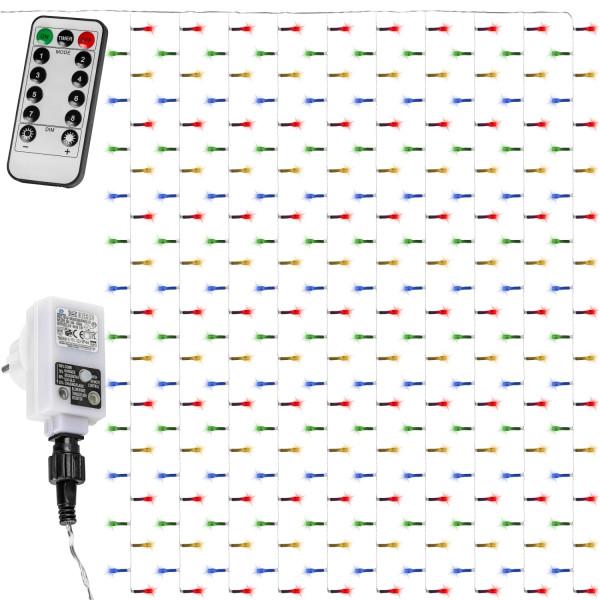 VOLTRONIC® 600 LED Lichtervorhang 6x3, bunt, FB