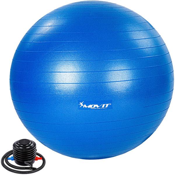 MOVIT® Gymnastikball mit Fußpumpe, 85 cm, blau