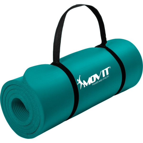 MOVIT® Gymnastikmatte, 183x60x1,0 cm, Yogamatte, Petrol