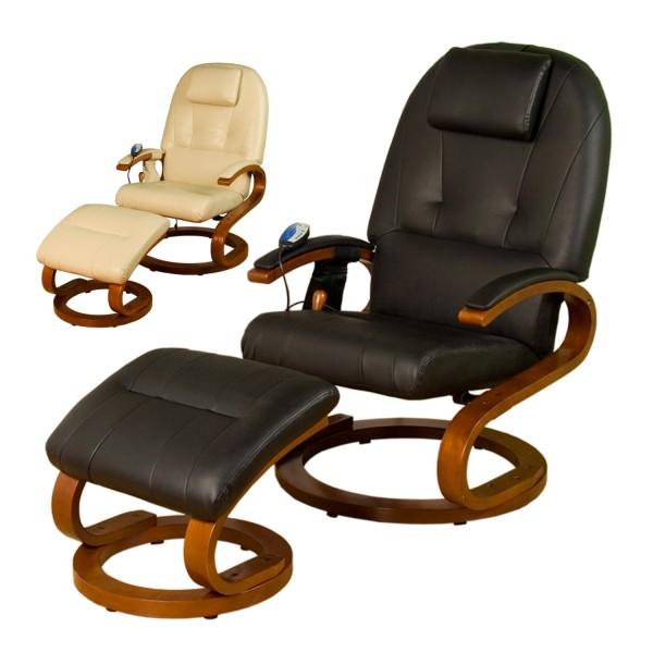 STILISTA® Massagesessel, Sessel + Hocker, Schwarz