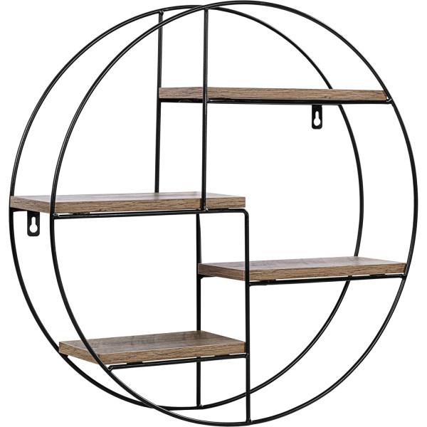 STILISTA® Design Regal rund Holz dunkel