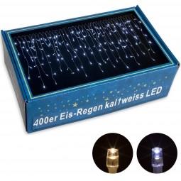 VOLTRONIC® 400 LED Lichterkette Eisregen, kalt-weiß