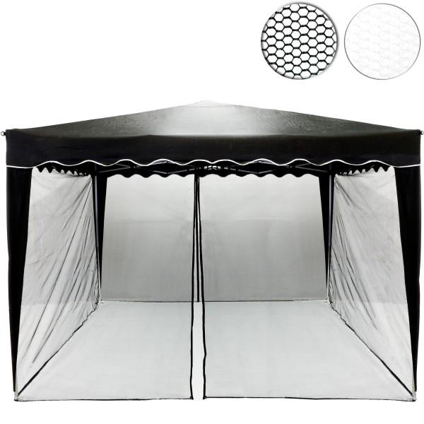 Moskitonetz, für 3 x 3 Pavillon, schwarz