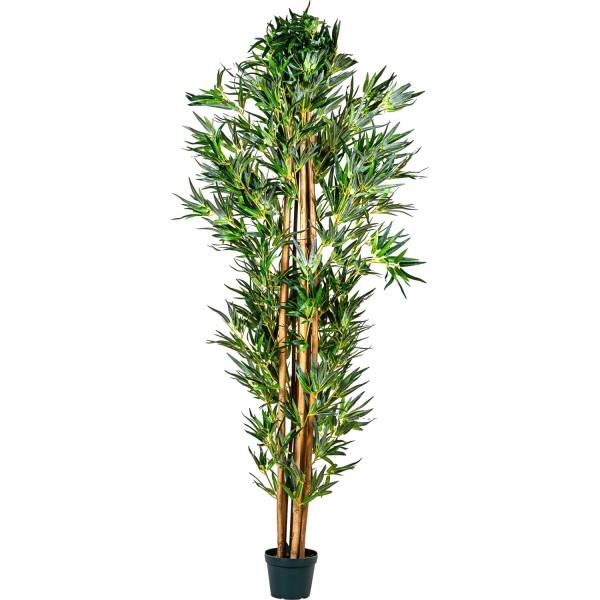 PLANTASIA® Bambus-Strauch, Kunstbaum, Kunstpflanze, 220cm