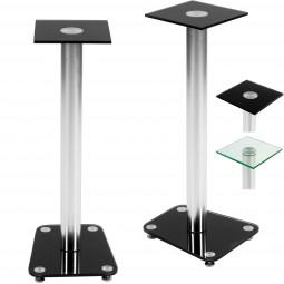 STILISTA® 2er Set Lautsprecherständer, Schwarzglas-Optik