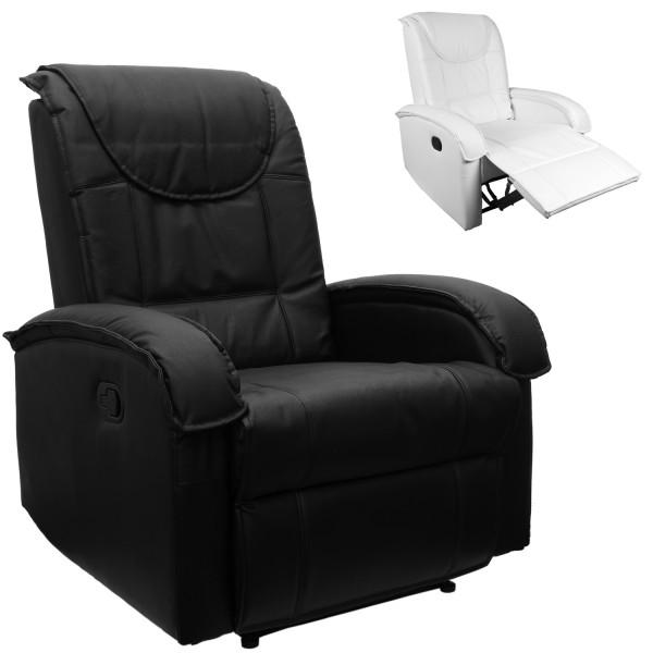 Fernsehsessel, Relaxsessel mit Fußstütze schwarz