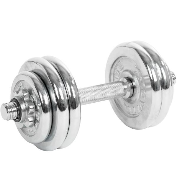 MOVIT® 15 kg Chrom Profi Kurzhantel Set, Gusseisen, Hantel