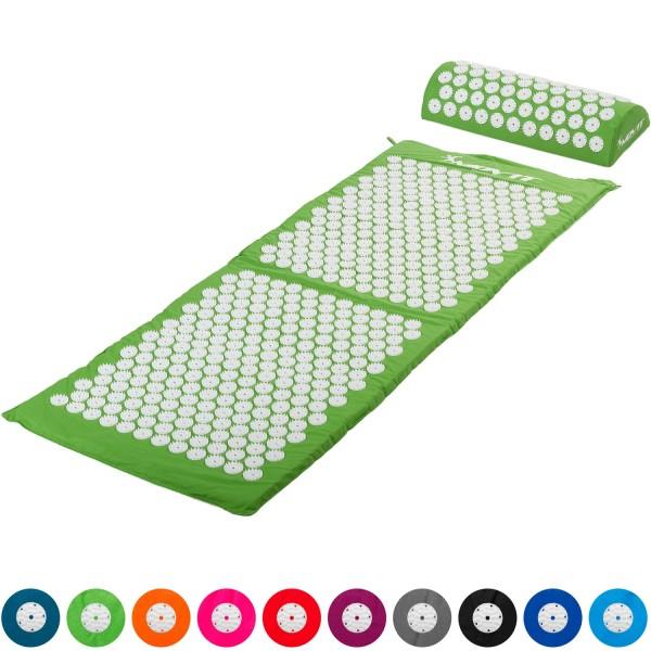 MOVIT® Akupressurmatte mit Kissen 130x50, grün