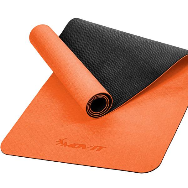 MOVIT® TPE Gymnastikmatte, 190x60x0,6cm, orange