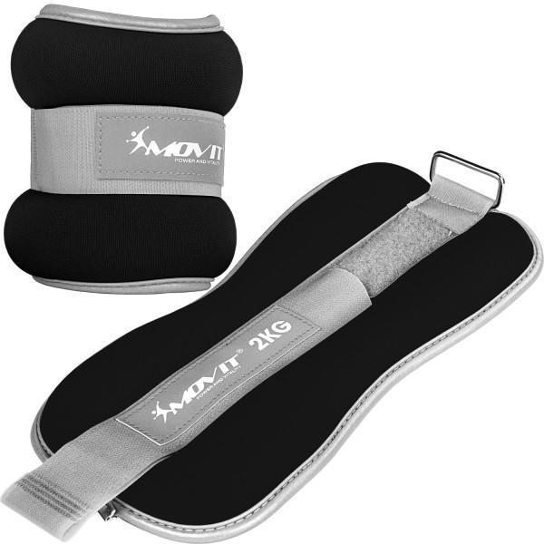 MOVIT® Neopren Gewichtsmanschetten 2x2 kg schwarz reflex F