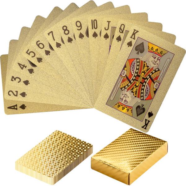 Poker Deck, Pokerkarten Kartendeck Gold