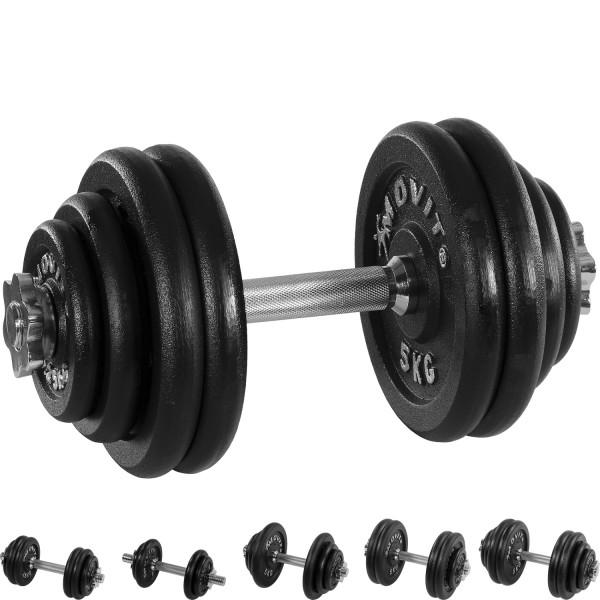 MOVIT® 30 kg Profi Kurzhantel Set, Gusseisen, Hantel