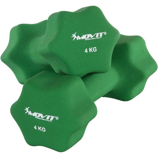 MOVIT® 2er Set 4,0 kg Profi Neopren Hanteln, Dunkelgrün