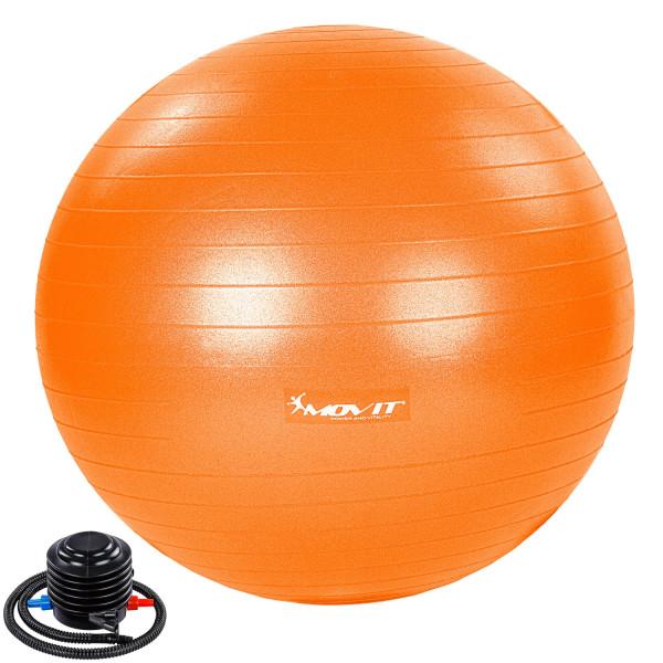 MOVIT® Gymnastikball mit Fußpumpe, 65 cm, orange